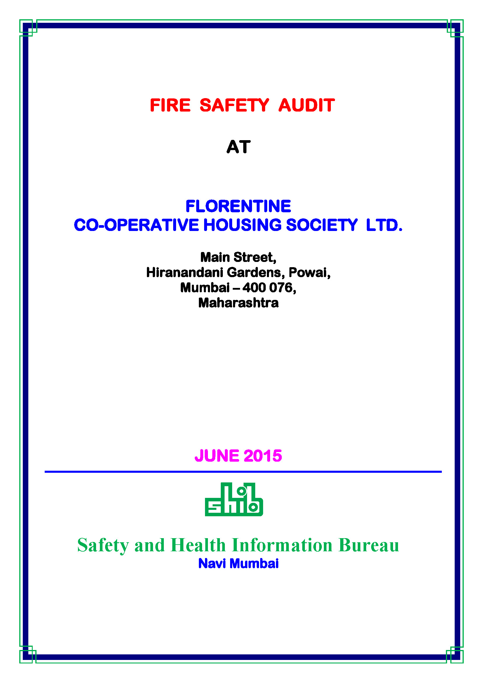 audit report cover page audit report cover page home website of of the cover page of the report entitled fire safety audit